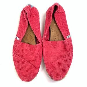 Toms Flats Shoes Hot Pink